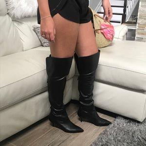 Nine West Shoes - Nine West Over the knee black heeled boots